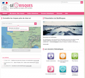 carte interactive des risques