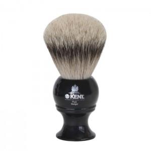 Blaireau de Rasage XL Pur Argenté Résine Noire - Kent BLK8