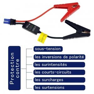 BESTEK Booster Démarrage pour voiture ou moto 12v Batterie portable 13600mAh Crête de courant 400A