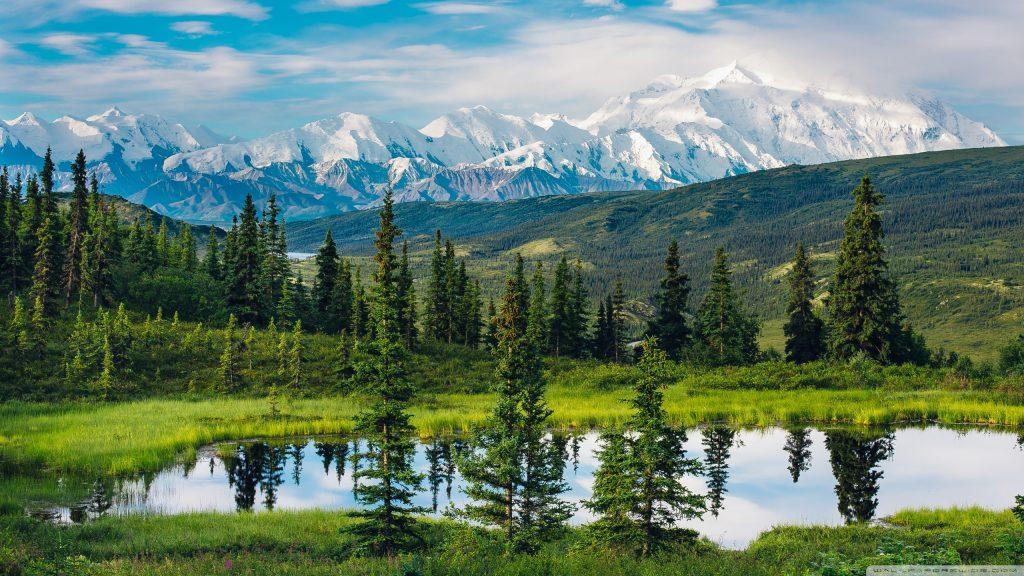 alaska range beautiful mountain landscape wallpaper 2560x1440